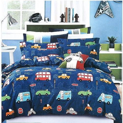 Owl Multi Girls Kids Single Duvet Cover Children Rotary Bedding Set