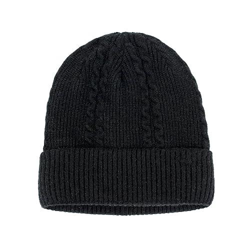 Dahlia Men/'s Beanie Hat Soft Warm Velour-Lined Wool Blend Twill Weave Drk Gray