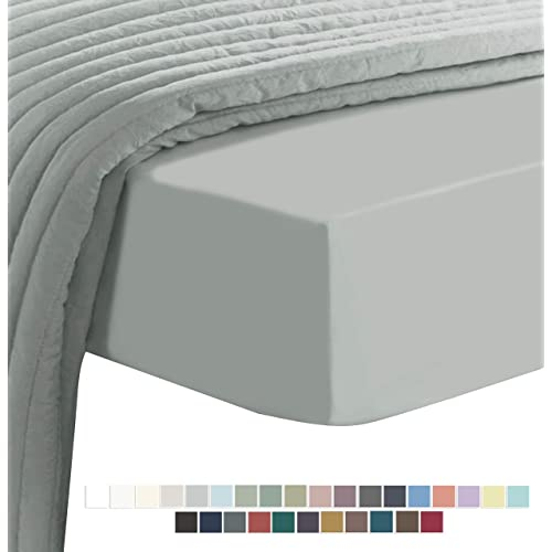 hachette 4FT SMALL DOUBLE SIZE GREY SILVER 400TC 400 THREAD COUNT 100/% EGYPTIAN COTTON FITTED SHEET FOUR