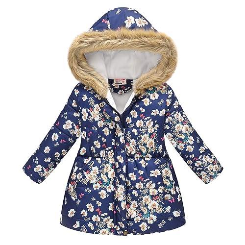 Goldweather Baby Boys Girls Windproof Snowsuit Front Zipper Hooded Down Jumpsuit Infant Winter Coat