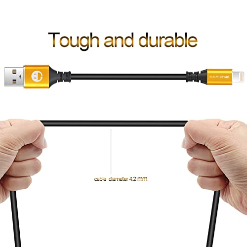 Fast Charging 1FT Wire for Apple iPhone XR//X//8//8 Plus//7//7 Plus//6//6s//Plus//SE//5c//5s//5 iPad Air 2//Mini//Max Cord Charger Station Short Charger Cable 2 Pack 0.2M