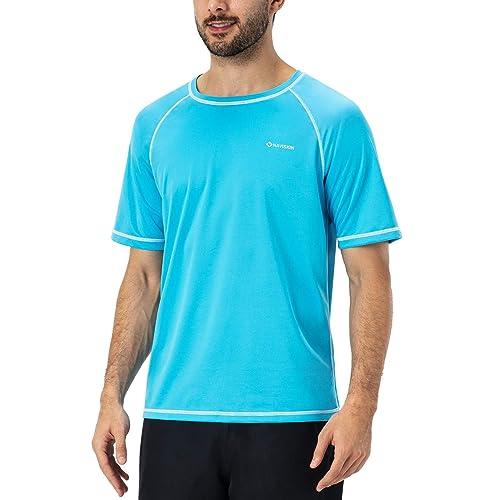 beautyin Mens Quick-Dry Sun Protection Rashguard Short Sleeve Tee Athletic Tops