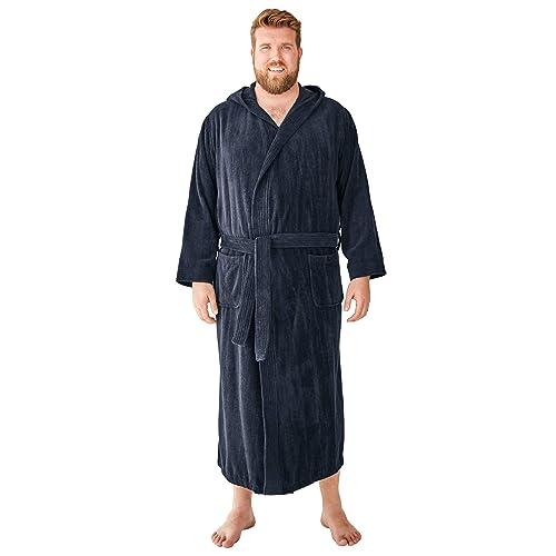Navy Stripe Tall-4Xl//5X KingSize Men/'s Big Tall Terry Bathrobe with Pockets