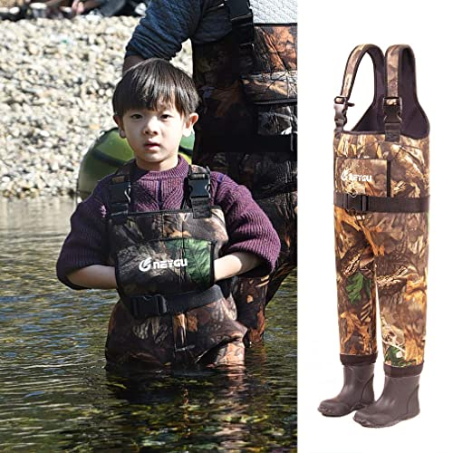 Oaki Toddler Neoprene Waterproof Fishing Waders For Kids 3T