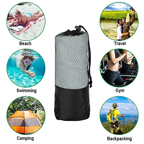 Compact Sports Etmury Microfiber Travel Towel Set Quick Dry Towel Super Absorbent Backpacking Beach Swimming Lightweight for Camping Includes 3 Sizes Hiking Fast Drying