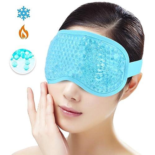Horse Plush Sleep Eye Masks Animal Mask Detachable Reusable Ice Pack Hot Cold Gel Compress for Tired Puffy Eyes Travel Sleeping Men Women Children