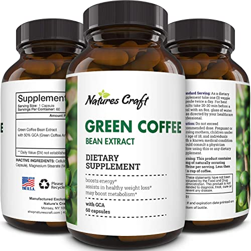 Natural Raw Green Coffee Bean Extract Extra Strength Pure