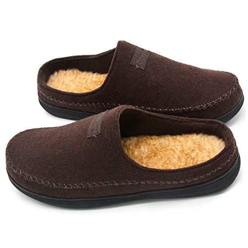 646515e963a4e Zigzagger Men's Comfort Suede Fabric Memory Foam Slippers with Plush Fleece  Lining, Causal Slip On