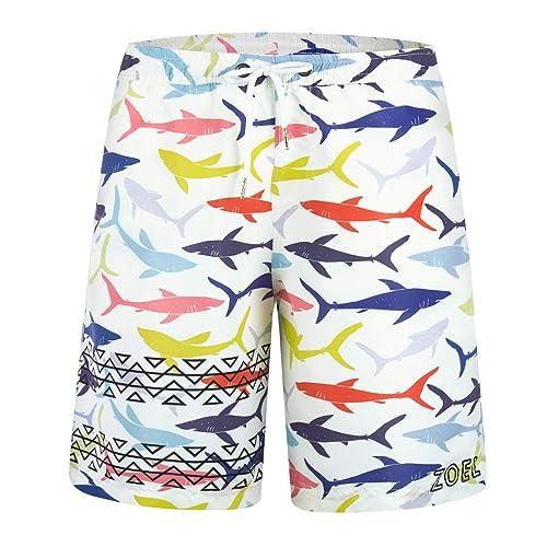 8b9fb1e564 Buy ZHPUAT Men's Swim Trunks Beach Board Shorts Quick Dry Bathing Suits  Holiday Shorts with Ubuy Kuwait. B07N67T2JR