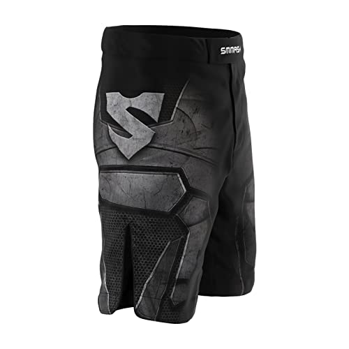 Grappling Antibacterial Material Kick Boxing SMMASH G-Ray Shorts MMA Mens UFC Professional Sportswear Krav Maga BJJ Perfect to MMA Workout Shorts Made in Europe
