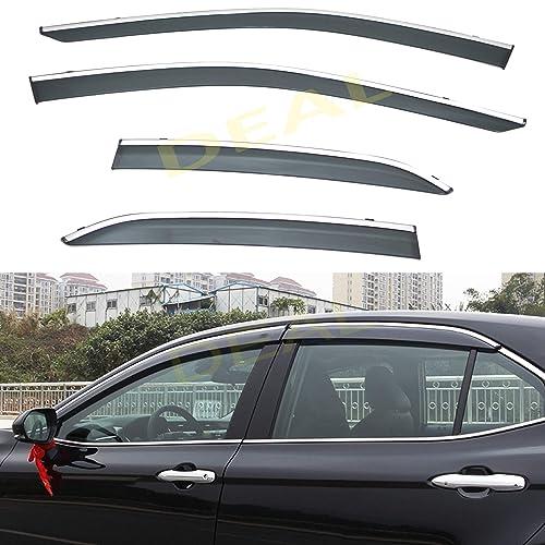 SAFE Smoked Window Visor Sun Rain Vent Guard 4p for 2018 Hyundai Kona