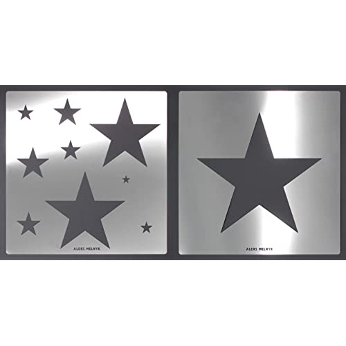 Aleks Melnyk #59 Wall Stencils for Painting Large Pattern Kids//Metal Space Stencils//Night Sky Star Paint and Home Decor//Girls Boys Room Wall Decor//Airbrush Painting Star Cluster//Templates for Crafts