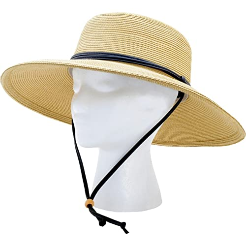 c5236ee1f5 Buy Sloggers Women's Wide Brim Braided Sun Hat with Wind Lanyard - Light  Brown - UPF 50+ Maximum Sun Protection, Style 442LB01 with Ubuy Kuwait.  B0025VDN7E
