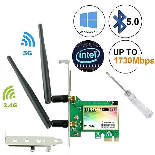 Buy Ubit Gigabit AC 1730Mbps Bluetooth 5 0 Wireless WiFi Card