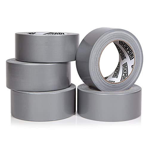108 Total Yards LICHAMP Heavy Duty Silver Duct Tape Bulk Multi Pack 2 inch x 27 Yards x 4 Rolls Silver Ideal for Crafts and Sealing Travel Duct Tape Small Roll