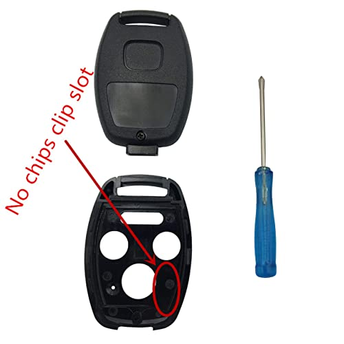 BINOWEN 3+1 Buttons Replacement For Key Fob Shell Keyless Entry Remote Honda Key Fob Case With Screwdriver Fit For Honda 2008-2012 Accord 2006-2013 Civic EX 2009-2015 Pilot 2PC