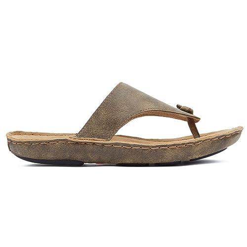 Tamarindo Beachcomber Sandal Women/'s Leather Soft Bed Flip Flop
