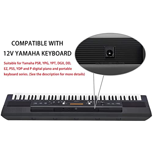 REPLACEMENT POWER SUPPLY FOR THE YAMAHA DGX-530 KEYBOARD ADAPTER UK 12V