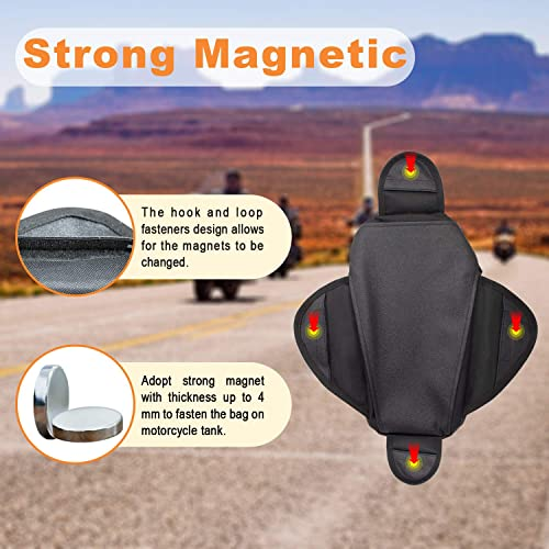 Universal... Motorcycle Tank Bag Waterproof Oxford Saddle Black Motorbike