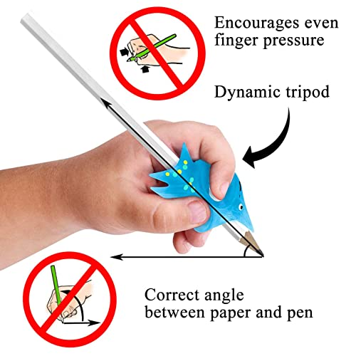 Left-Hand Pencil Grip for Kids Handwriting Writing Claw Green control Angle