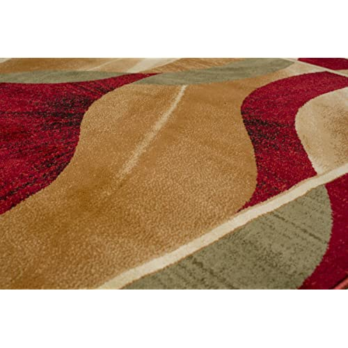 Tapiso Area Rugs Living Room Bedroom Cream Beige Burgundy Wavy Pattern Durable Carpet Dorian Collection Size 140 X 190 Cm 4ft7 X 6ft3 Buy Products Online With Ubuy Kuwait In Affordable Prices B07l93c9qr