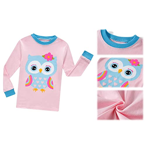 THECrafts Little Girls Cute Pajamas Set Children Christmas PJs 100/% Cotton Toddler Girls Sleepwear Size 2,3,4,5,6,7,8,10,12