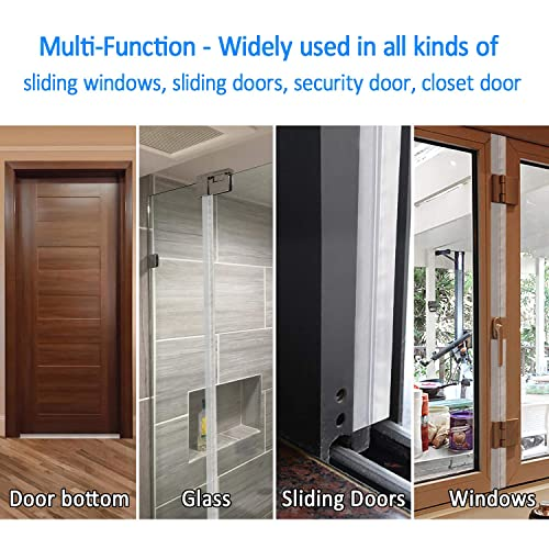 Weatherproof 3.5 /× 500 cm Transparent Weather Stripping for Waterproof KEPEAK Silicone Door Bottom Seal Strip Tape Soundproof Dust Proof Windproof Insects Proof