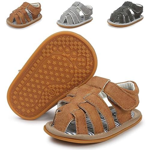 9ec8073893ba6 Infant Baby Boys Girls Summer Sandals Non Slip Soft Sole Toddler First  Walker Crib Shoes(0-18 Months)