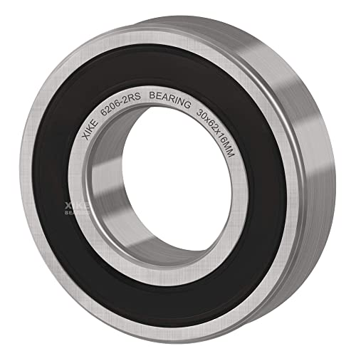 PGN 6205-2RS Sealed Ball Bearing Chrome Steel 2 PCS Lubricated 25x52x15