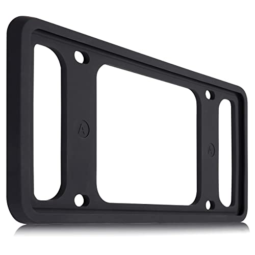 Two Peak License Plate Frame Black Car License Plate 2 PCS Silicone License Plate Frame Rattle-Proof Rust-Proof Weather-Proof License Plate Holder
