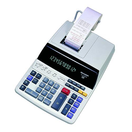 Certified Refurbished Sharp EL1197PIII Two-Color Printing Desktop Calculator Black//Red Print 4.5 Lines//Sec