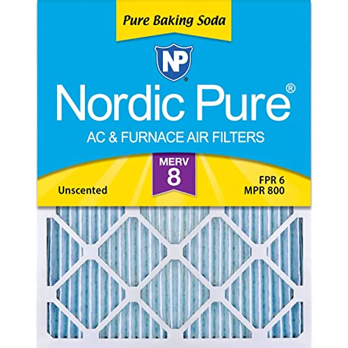 Nordic Pure 16x20x1 MERV 10 Pleated Plus Carbon AC Furnace Air Filters 16x20x1PM10 2 Piece