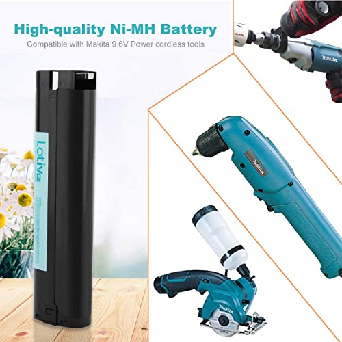 ADVNOVO 9.6V 3.5Ah Battery Compatible with Makita 9000 9001 9002 9033 9600 191681-2 192533-0 632007-4 Ni-MH 9.6Volt Battery