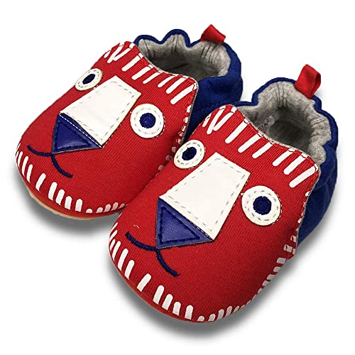 6-24 Months TIMATEGO Toddler Baby Boys Girls Shoes Non Skid Slipper Sneaker Moccasins Infant First Walker House Walking Crib Shoes