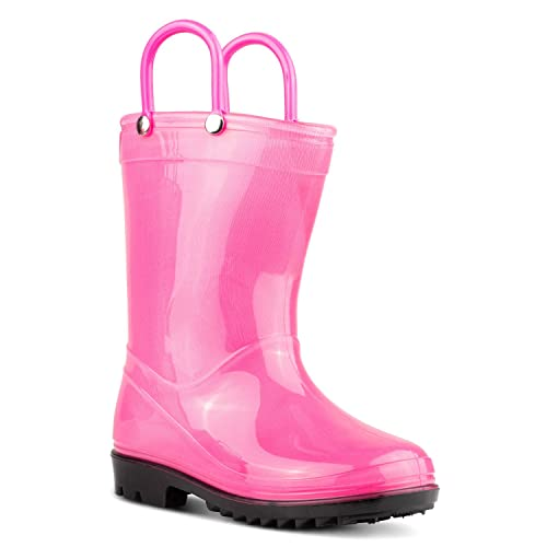 Boys /& Girls ZOOGS Childrens Rain Boots with Handles Little Kids /& Toddlers
