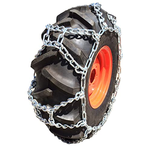 TireChain.com 315//75D15 315//75 15 Ladder Tractor Tire Chains Set of 2