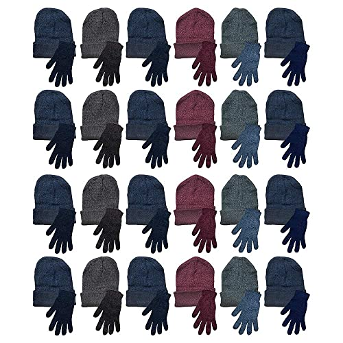 SATINIOR 60 Pieces Kids Winter Beanies Warm Cold Weather Hats for Boys Girls Children School Outdoors Bulk Pack