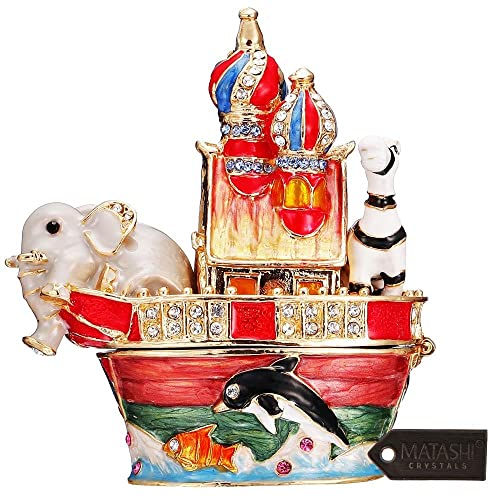 Baby Peguin Mini Jeweled Pewter Trinket Box Collectibles Home Decor