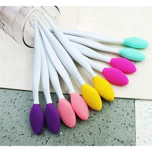 Heatoe 10 Pcs 2 In 1 Lip Brush Tool Double Sided Lip Scrubber