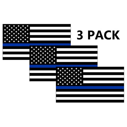 Blue Lives Matter Flag Bumper Sticker Decal Car Truck RV Support Police Law
