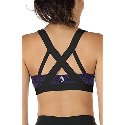 6472f20a6ef Buy icyzone Women's Workout Yoga Clothes Activewear Racerback Strappy Sports  Bras with Ubuy Kuwait. B07BRPSJBG