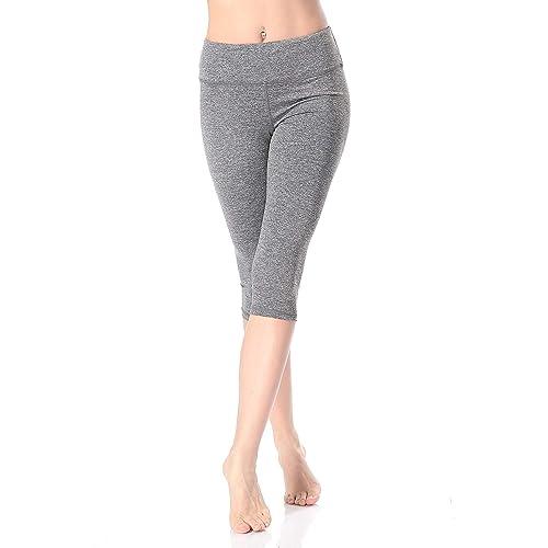 Women Key Pockets Yoga Pants Lifter Leggings Stretch Sports Fitness Trousers Gym