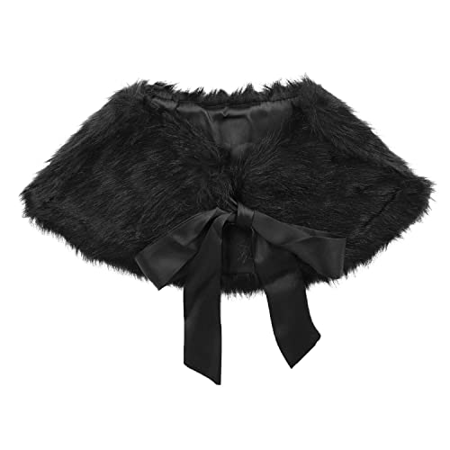 Foxfire for Kids Lilly Patricia Snow Leopard Faux Fur Poncho