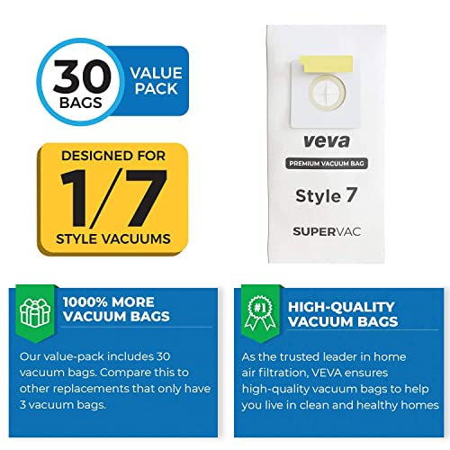 Style 7 Vacuum Cleaner Paper Bags 30 Bissell 32120