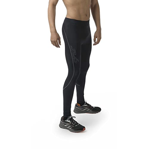 XOGO Mens Compression Leggings Training and Sports Games Comfortable Base Layer Tights for All Season 4 Way Stretchable Compression Trousers for Running