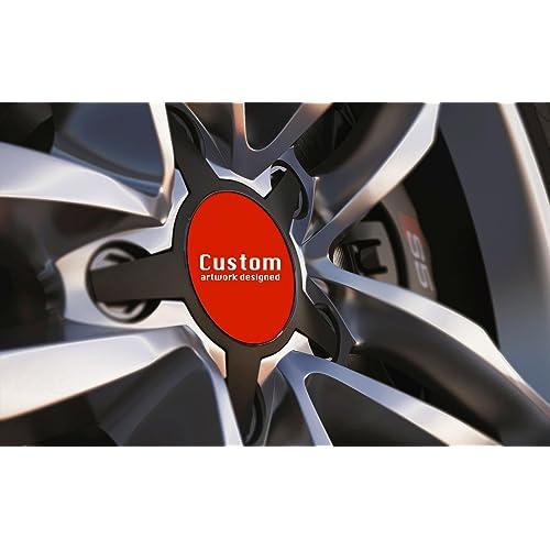 AUTOTUO 4pcs 135MM Hubcaps Car Hubcaps Wheel Center Caps for A6 A6L A4 A4L A5 A7 S5 Q3 Q5 RS