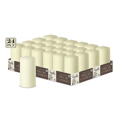 Papstar 17915 Pillar Candles Set of 10 40 x 90 mm White /& 17981/Pillar Candles /Ø 50/x 100/mm/ /Cream /Pack of 8/