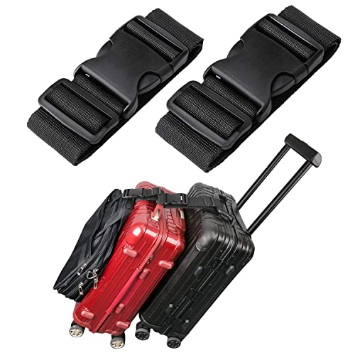 Black MAGARROW Add a Bag Luggage Strap Adjustble Suitcase Attachment Belt Connecting the Luggage