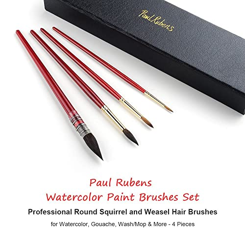 Size 3 Wash//Mop Round Squirrel Hair Paint Brush for Art Painting Paul Rubens Professional Mop Watercolor Paint Brush