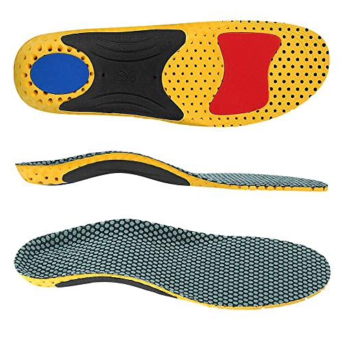Pair Footful Mens Orthotic Insoles Arch Support Inserts Cushion Pad UK 8-11